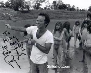 Director Ruggero Deodato on set of CH.