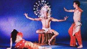 "Bhaskar dancing as Brahma in ""The Creation of Woman"""
