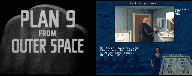 "The 1992 version of the ""Plan 9 From Outer Space"" video game"