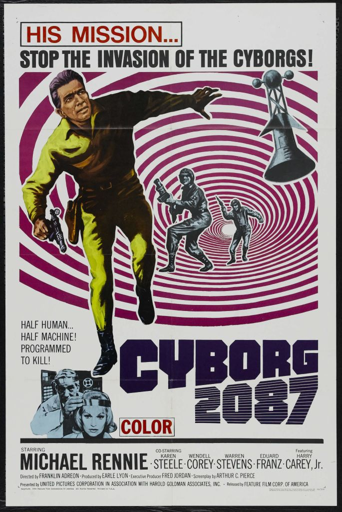 1966. Arguably, an influence for The Terminator--in that some shmo has to come back in time to now to destroy a technology that destroys humanity in the future.