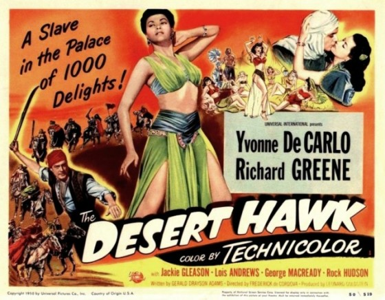 Jackie Gleason/Yvonne De Carlo/Rock Hudson do Aladdin.