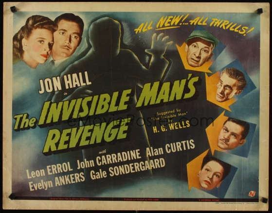 """1944. Last 'Invisible Man"""" flick, outside of an Abbott & Costello cilm later on."""