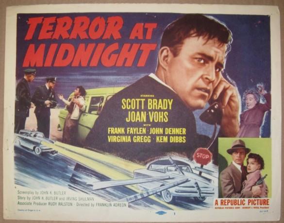 1956. Full length film (not a serial), decent B-film noir.