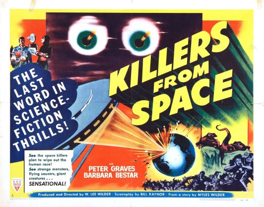 1954. Cheaply made warning of immanent alien attack.