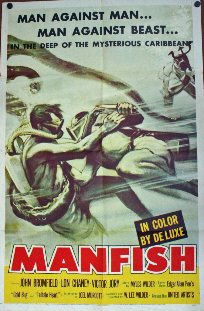 "Spoiler alert: ""Manfish"" is the name of a boat, not some sort of sea creature. (spoiler alerts for a nearly 60 year-old movie?)"