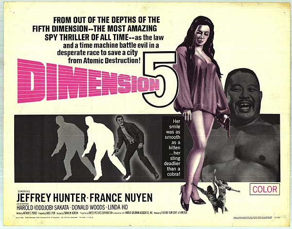 1966. Kitschy sci-fi/spy action, notable for starring people who'd guest on the original Star Trek series.