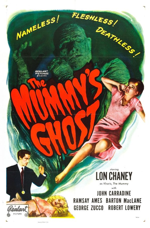 1944. Only Universal Mummy film with no flashback footage, Set in futuristic 1970.