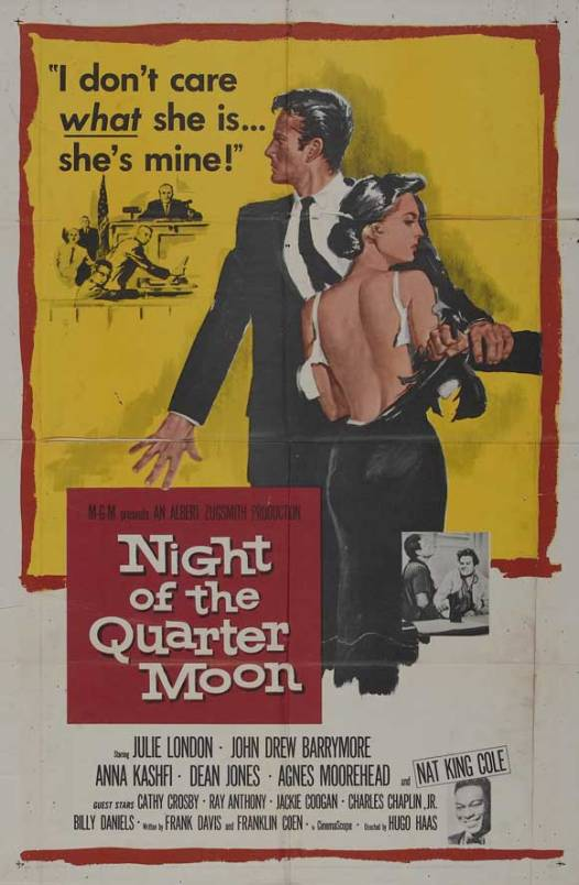 Starring the quite white Julie London as the biracial wife.
