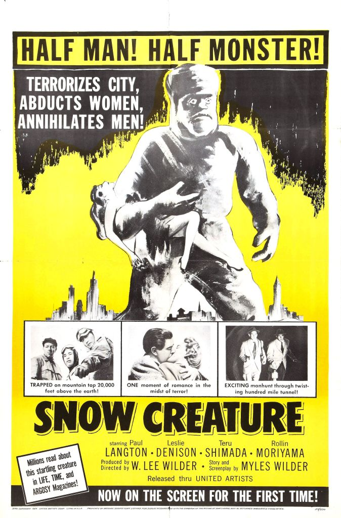 Probably the first motion picture about a Yeti.